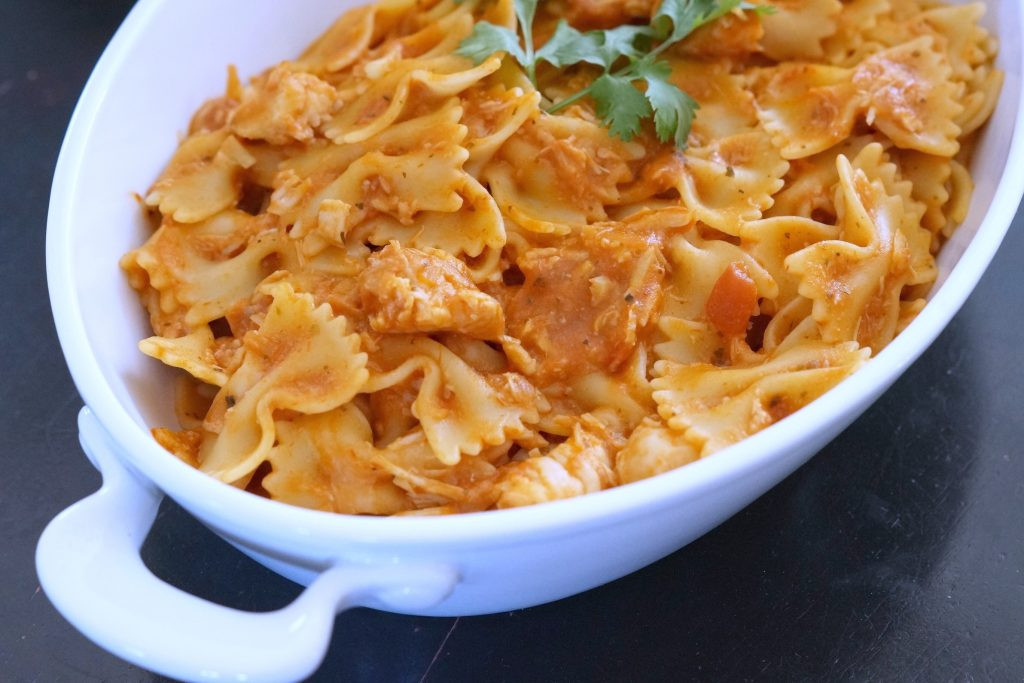 This quick and easy Chicken Mozzarella Pasta recipe is perfect for busy school nights. You can make Chicken Mozzarella Pasta in less than 30 minutes!