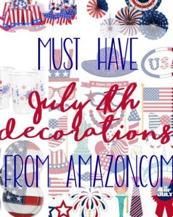 Grab these fun fourth of July decorations from Amazon today! These fourth of July decorations are affordable and long-lasting!