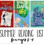 Third Grade Summer Reading List