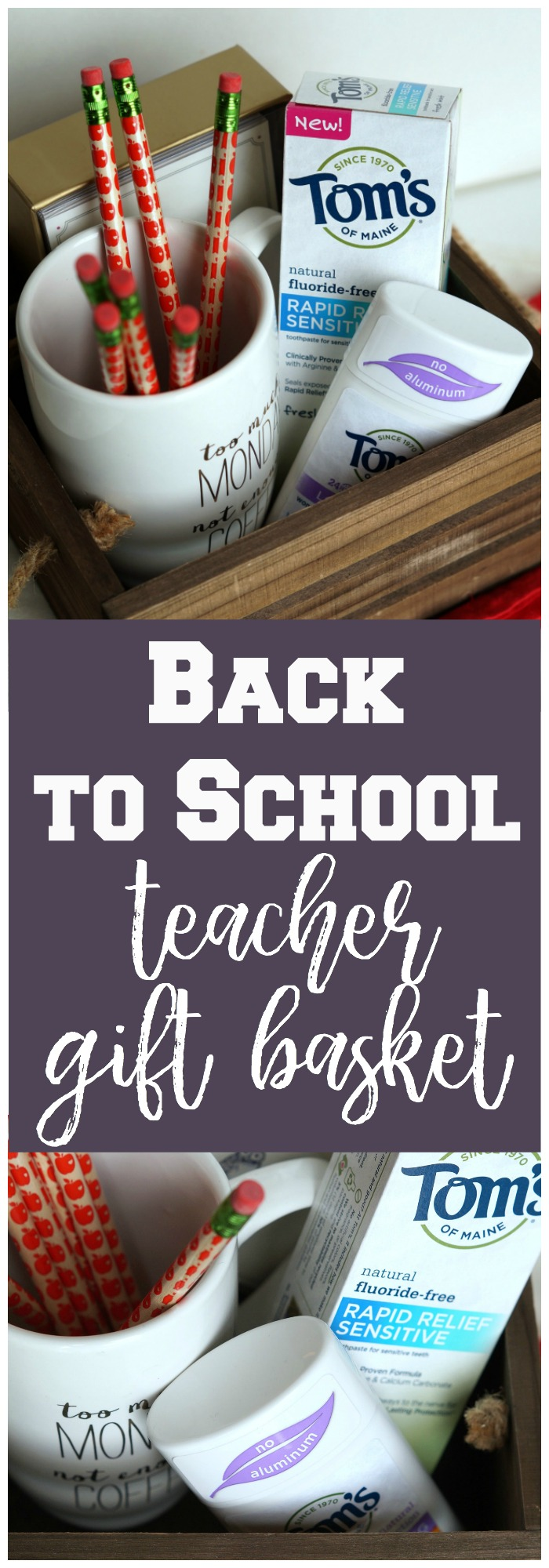 Are you ready for your kids to head back to school? Make this back to school teacher gift basket with useful items teachers will enjoy!