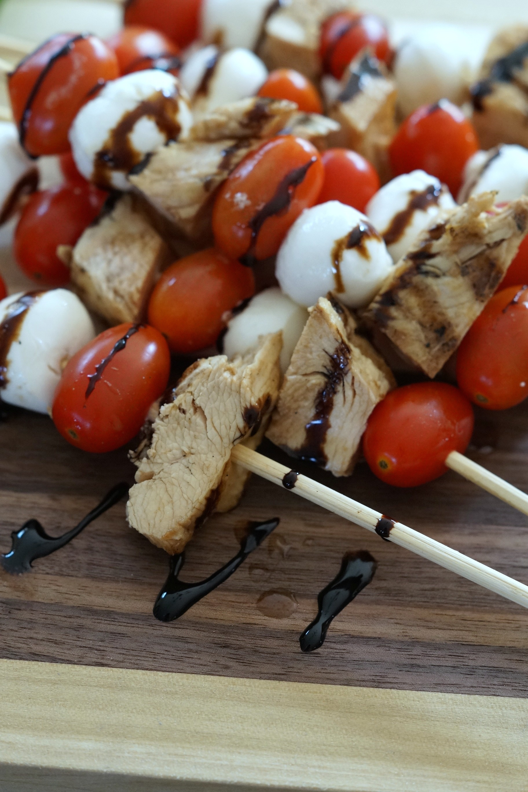 This recipe for Balsamic Grilled Chicken Skewers is simple and delicious. Perfect for sharing with friends and family. #ShareWineAndBites