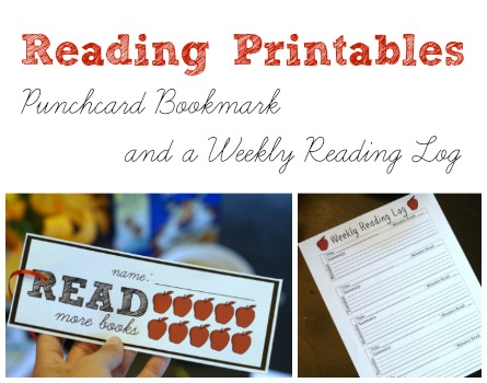 Printable Reading Punchcard Bookmark for Kids