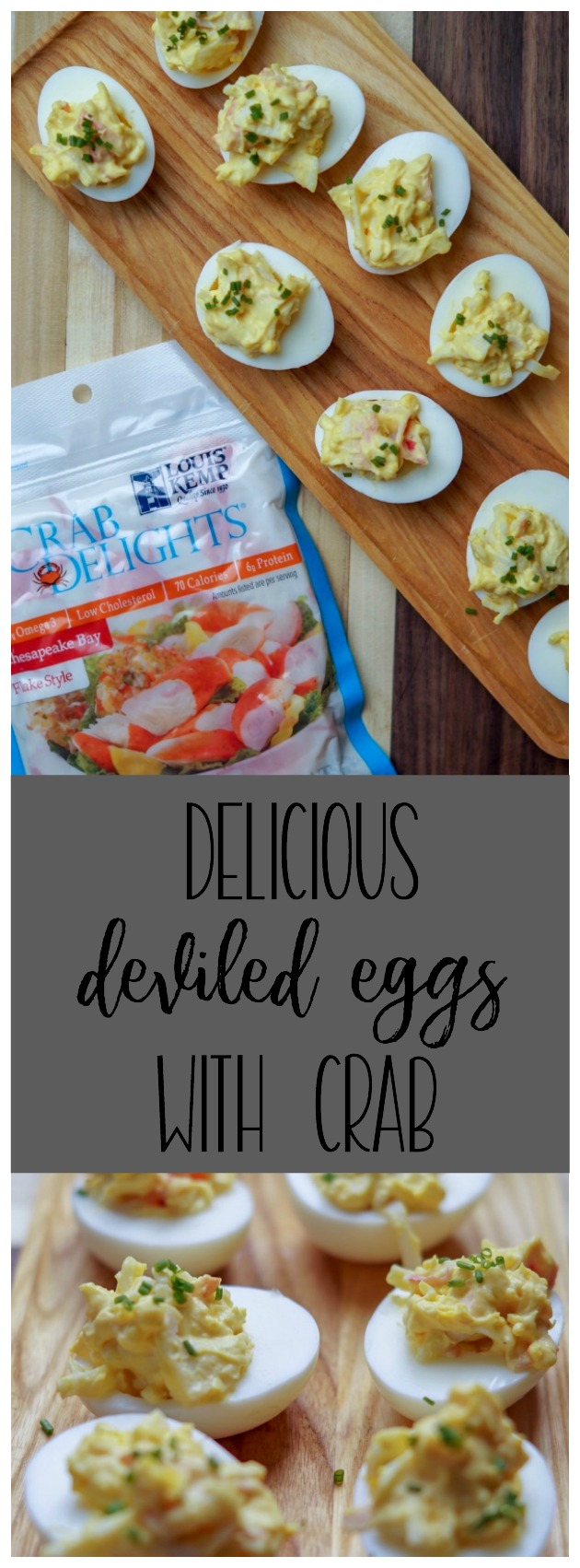 Looking to spice up your appetizers this holiday season? These crab deviled eggs are just what you are looking for! Click through for the easy recipe!