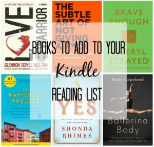 Looking for a few good books to add to your kindle reading list? Check out my suggestions and start reading today!