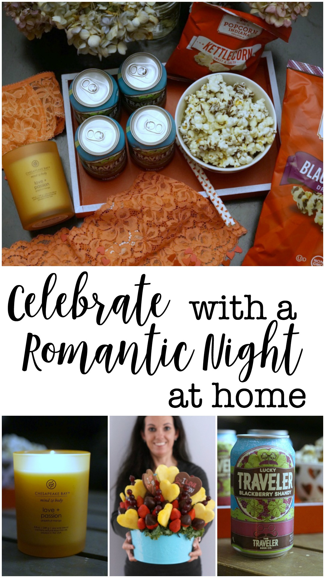 It is easier to celebrate a romantic night at home than you think! Valentine's Day is on everyone's mind right now - and with the right snacks, beverages, and other goodies you can have a romantic night at home easily.